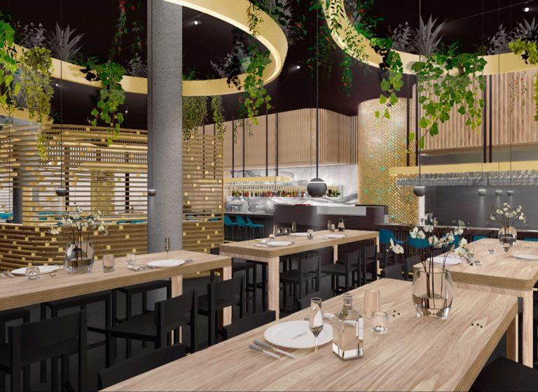 Restaurant Interior Rendering
